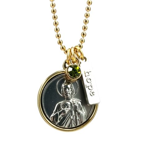 st jude charm necklace