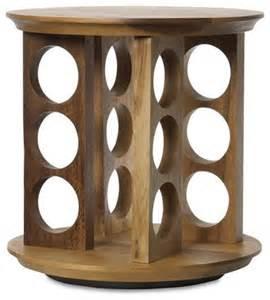 Wooden Rotating Spice Rack Tuscany Revolving Spice Rack Traditional Spice Jars