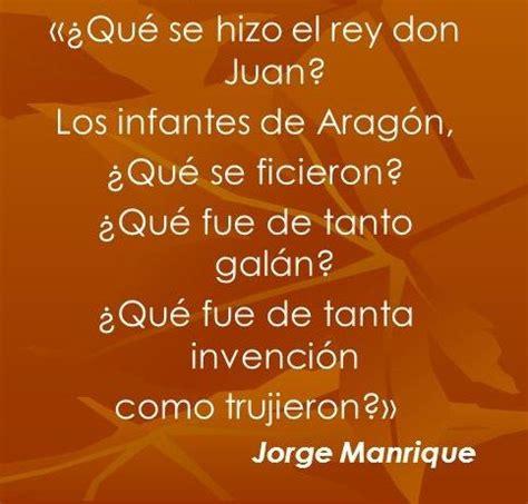 poema de jorge manrique este fragmento pertenece a un poema de jorge manrique y es