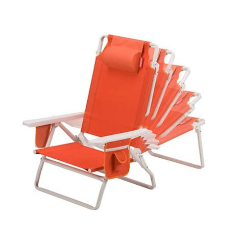 Coleman Beach Chair Recliner Orange