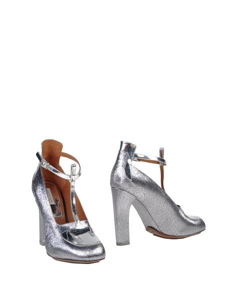 dries noten shoe boots in metallic lyst
