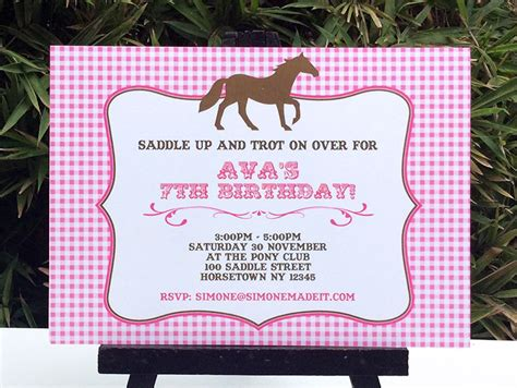 printable birthday invitations horse theme horse birthday party printable templates pony party theme
