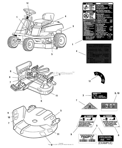 simplicity broadmoor lawn tractor parts diagrams