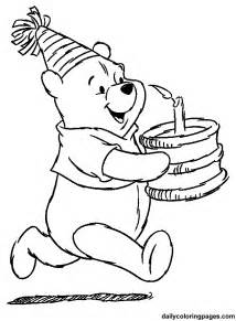 winnie pooh coloring pages birthday