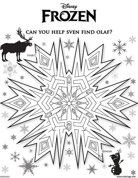 frozen coloring pages snowflakes coloriage sven labyrinthe reine des neiges dessin