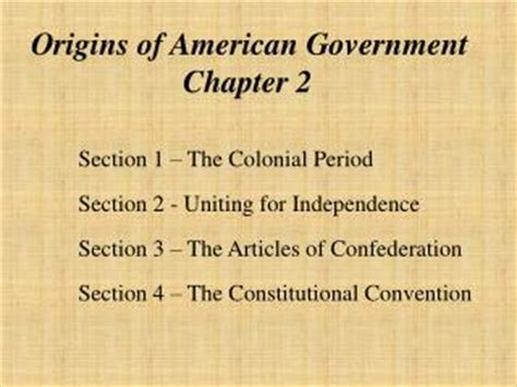 american government chapter 4 section 1 ppt chapter 2 origins of american government powerpoint