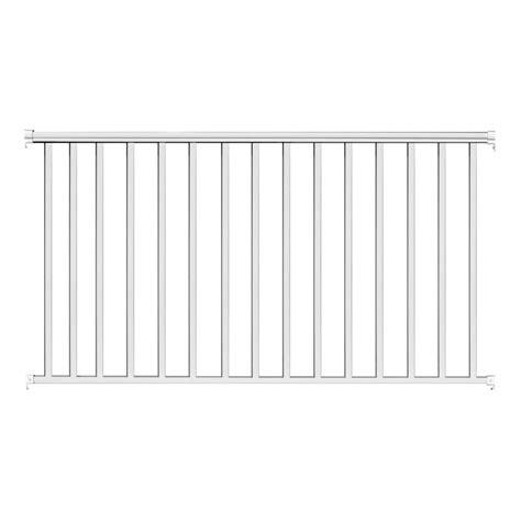 Home Depot Interior Lighting 6 ft x 36 in white aluminum baluster railing kit ez6rw