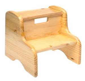 child s step stool in a wood finish by colorado