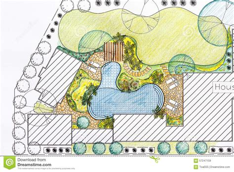 Garten Neu Planen by Landscape Architect Design Backyard Plan For Villa Stock