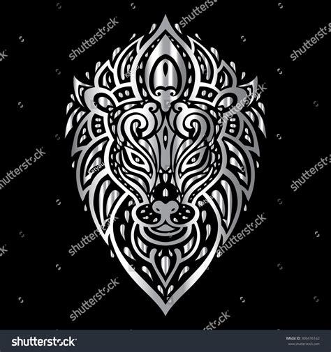 tribal pattern lion lion head tribal pattern polynesian tattoo style vector