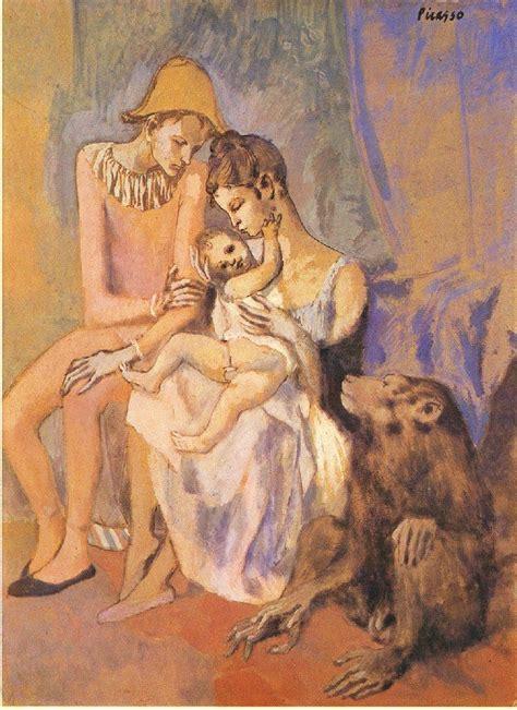 picasso paintings era picasso famille d acrobates avec singe 1905