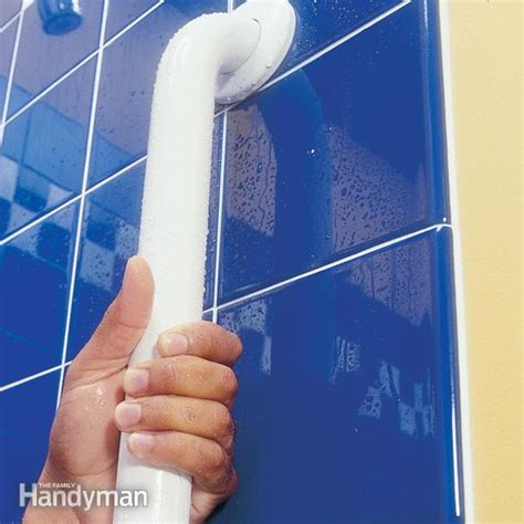how to secure a bathtub how to install bathroom grab bars the family handyman