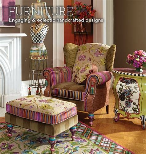 Mackenzie Childs Furniture by Mackenzie Childs Eclectic Furniture Decorated At