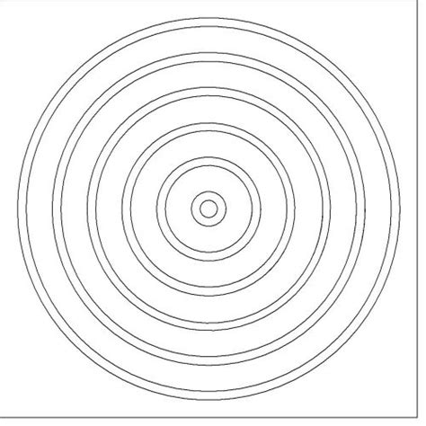 Best Photos Of Concentric Circles Printable Concentric Concentric Circles Template