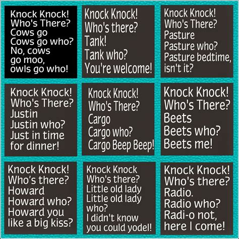 printable children s knock knock jokes potlucks on the porch dinner conversations
