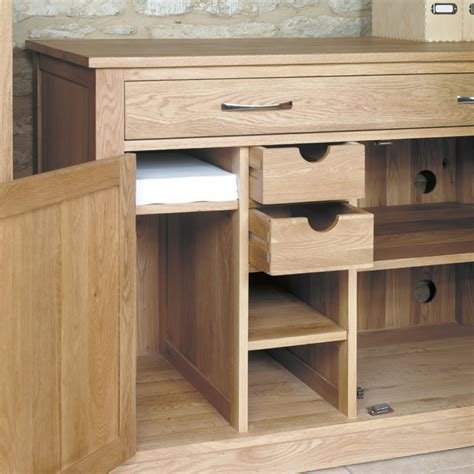 oak wood computer desk mobel oak hidden home office workstation wooden