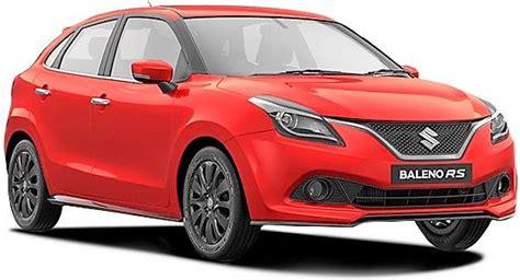 Suzuki Rs Maruti Suzuki Baleno Rs Petrol Price Specs Review