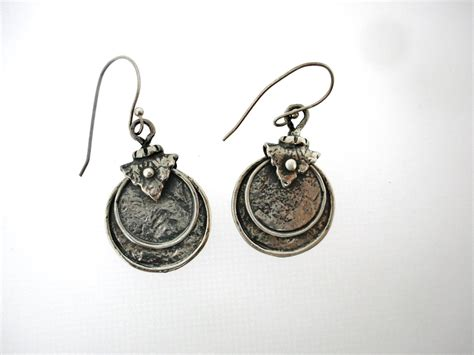 Handcrafted Silver Earrings - porans handcrafted sterling silver earrings unique by