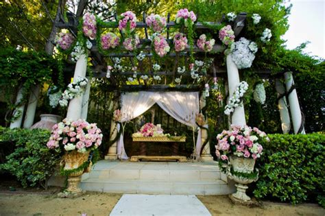 Enchanted Garden Decor with Pink Wedding Decor The Magazine