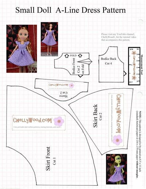 pattern for a line dress free free pattern and tutorial for mh or eah dolls