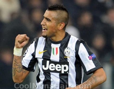 men s hairstyles arturo vidal crazy mohawk haircut 2015 soccer player hairstyles cool men s hair
