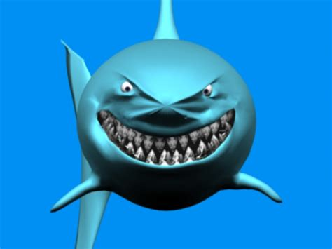 Balon Karakter Ikan Hiu Shark 3d s max 7 0 chubamoon