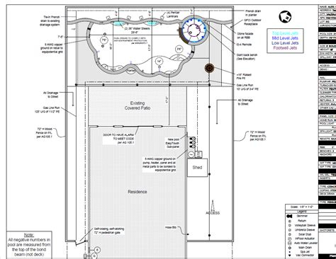 pool plan swimming pool drafting service custom pool plans