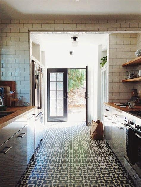 white kitchen patterned floor rosa beltran design blog cement concrete encaustic tile
