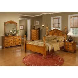 sunset trading bryant 5 bedroom set in honey pine