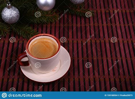good morning    nice day merry christmas cup  coffee  cookies  fresh fir