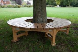 Rustic Wooden Bench Seat Bench Around A Tree The Owner Builder Network