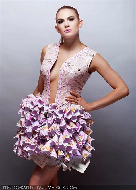 wedding  gala dresses   recycled materials
