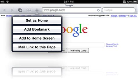 you can now set a home page in mobile safari on your