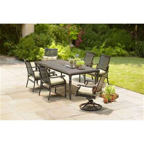 Martha Stewart Patio Dining Set Martha Stewart Living Pembroke 7 Patio Dining Set Discontinued Ac Set 1137 7 The Home Depot