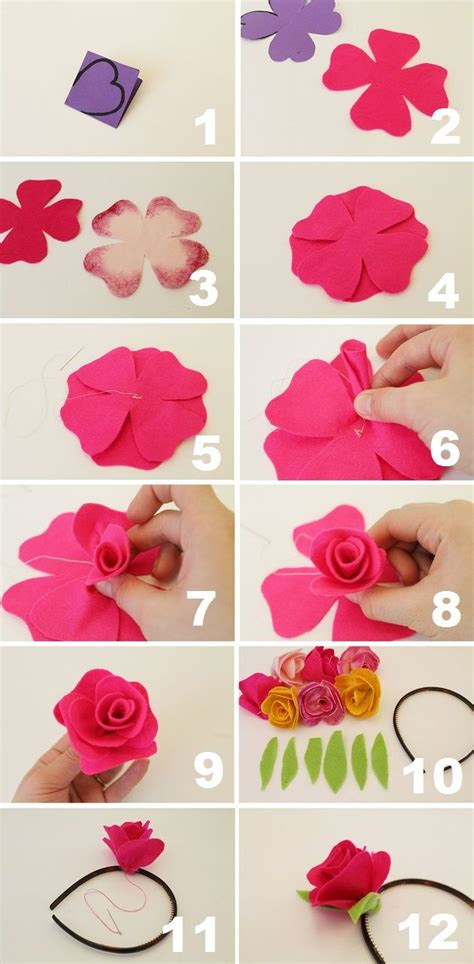 How To Make A Headband Out Of Paper - 1000 ideas about fabric roses on fabric