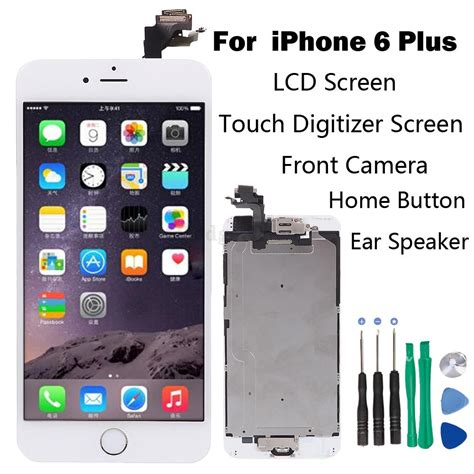 Dus Iphone 6 6plus Original Fullset Acc set lcd touch screen digitizer assembly replacement for iphone 6 plus white ebay