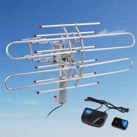 180 mile hdtv 1080p outdoor lified hd tv antenna digital uhf vhf fm radio bp ebay