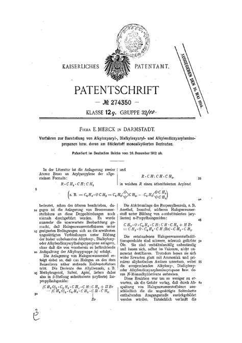 preparation of christmas pdf til mdma was patented 100 years ago on
