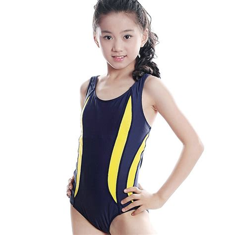 little girls black bodysuit navy blue black brand swimming suit for girls sexy