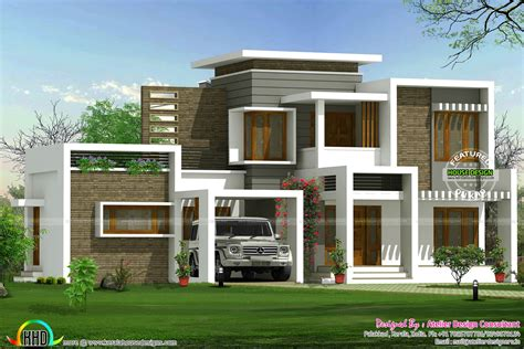 contemporary modern home plans beautiful box type contemporary home kerala home design