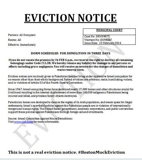 Rent Demand Letter Nyc 72 Hour Eviction Notice Free Printable Documents
