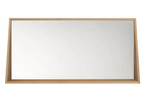 oak framed bathroom mirror oak qualitime mirror by ethnicraft
