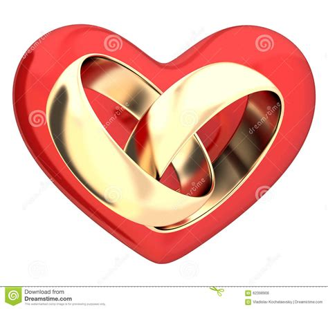 Wedding Rings With Hearts by Wedding Rings And Hearts Stock Illustration Illustration