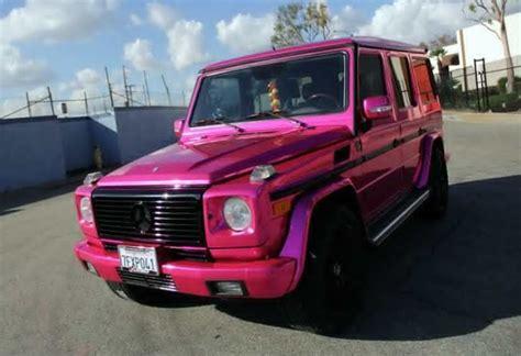 pink mercedes truck mercedes g class comes in pink chrome benzinsider com