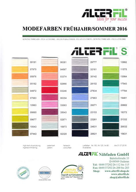Modefarbe Herbst 2016 by Modefarben Alterfil De