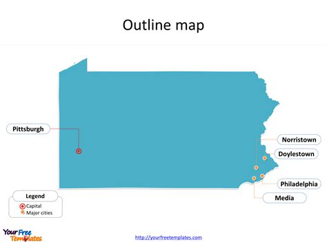 Pennsylvania Map Powerpoint Templates Free Powerpoint Templates Penn State Powerpoint Template