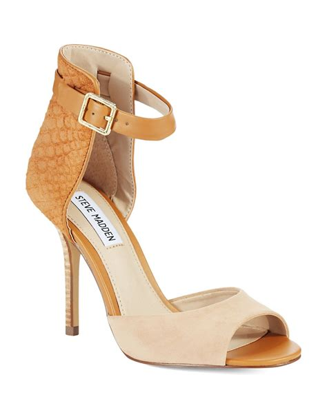steve madden high heel sandals steve madden step out high heel sandals in beige camel