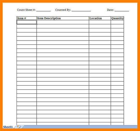 Free Printable Blank Spreadsheet by 8 Printable Blank Spreadsheet Lease Template