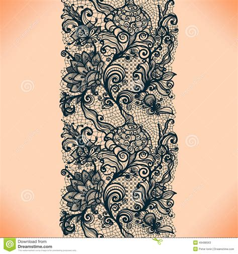 seamless pattern template abstract lace ribbon vertical seamless pattern stock