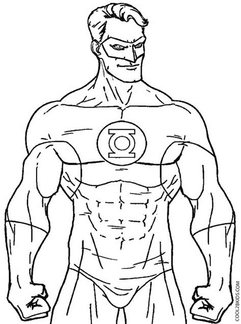 Color Chkids Green Lanter Printable Green Lantern Coloring Pages For Kids Cool2bkids